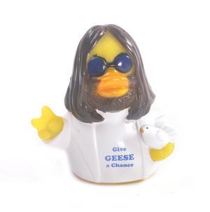 Give Geese a Chance Rubber Duck - Celebriduck for John Lennon Beatles Fans