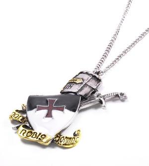 Knight Templar Talisman Pendant - Non Nobis Domine - Templar Motto KT3 Thumbnail 2