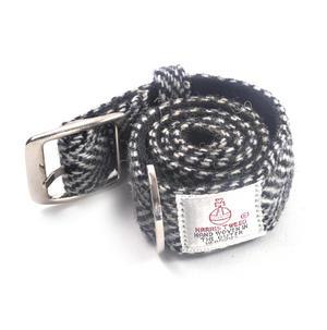 Large Black & White Harris Tweed Dog Collar