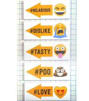 Get the Hint Emoji Stickers - 20 Emojinal Adhesive Labels Thumbnail 2