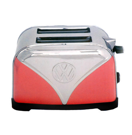Red Volkswagen Camper Stainless Steel Toaster
