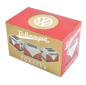 Red Volkswagen Camper Stainless Steel Toaster Thumbnail 2