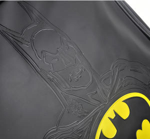 Batman Embossed Silhouette and Logo Shoulder Bag