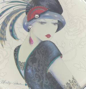Amelia - Simply Elegant Maranda Compact Mirror with Swarovski Crystallised Elements Thumbnail 2