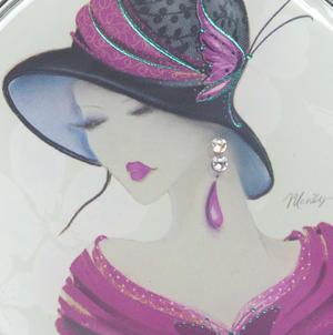 Amelia - Simply Elegant Maranda Compact Mirror with Swarovski Crystallised Elements Thumbnail 5