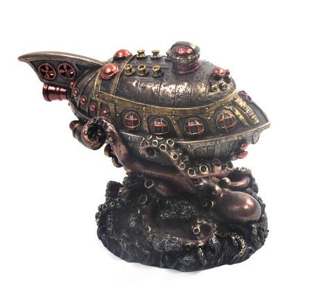 Leviathan's Escape Steampunk Sculpture 20 cm