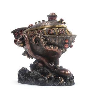 Leviathan's Escape Steampunk Sculpture 20 cm Thumbnail 4