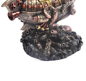 Leviathan's Escape Steampunk Sculpture 20 cm Thumbnail 6