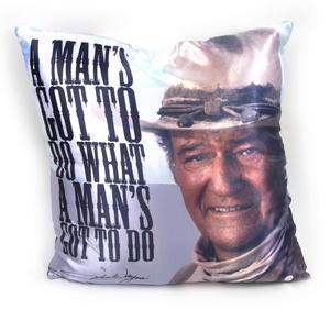 John Wayne A Man's Gotta Do Jumbo Cushion 53cm Thumbnail 1