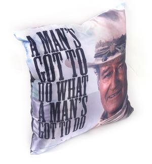 John Wayne A Man's Gotta Do Jumbo Cushion 53cm Thumbnail 2