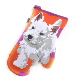 Westie Puppy Oven Glove Mit Gauntlet by Leslie Gerry Thumbnail 1