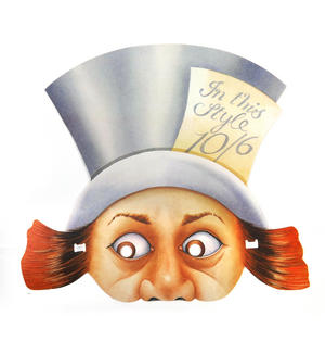 Mad Hatter - Classic Alice in Wonderland Party Mask Thumbnail 1