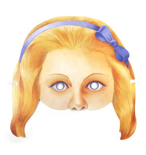 Alice - Classic Alice in Wonderland Party Mask Thumbnail 1