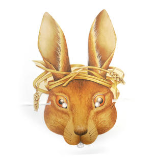 March Hare - Classic Alice in Wonderland Party Mask Thumbnail 1