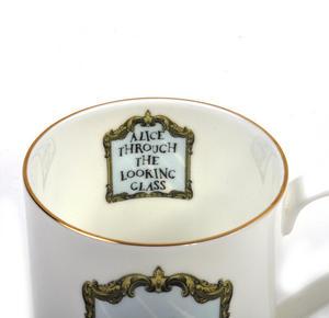 Alice In Wonderland Through the Looking Glass Fine Porcelain Mug Thumbnail 6