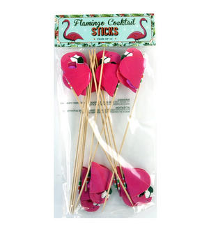 Pink Flamingo Cocktail Sticks Thumbnail 2