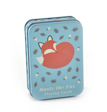 Rusty the Fox Metal Box Playing Cards
