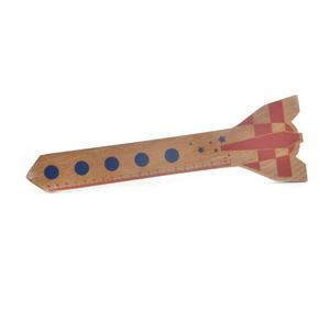 Space Rocket Ruler - 200mm Wooden Shuttle Thumbnail 1