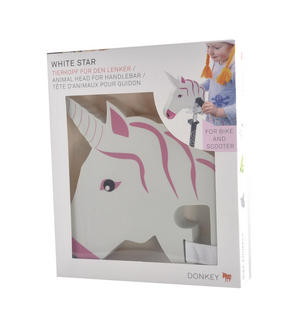 Unicorn Whitestar Handlebar Animal Head Thumbnail 2