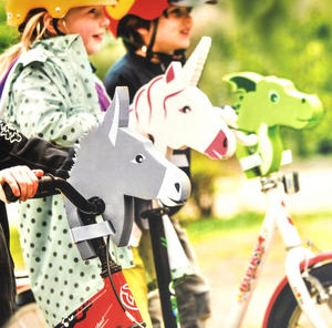 Unicorn Whitestar Handlebar Animal Head Thumbnail 3