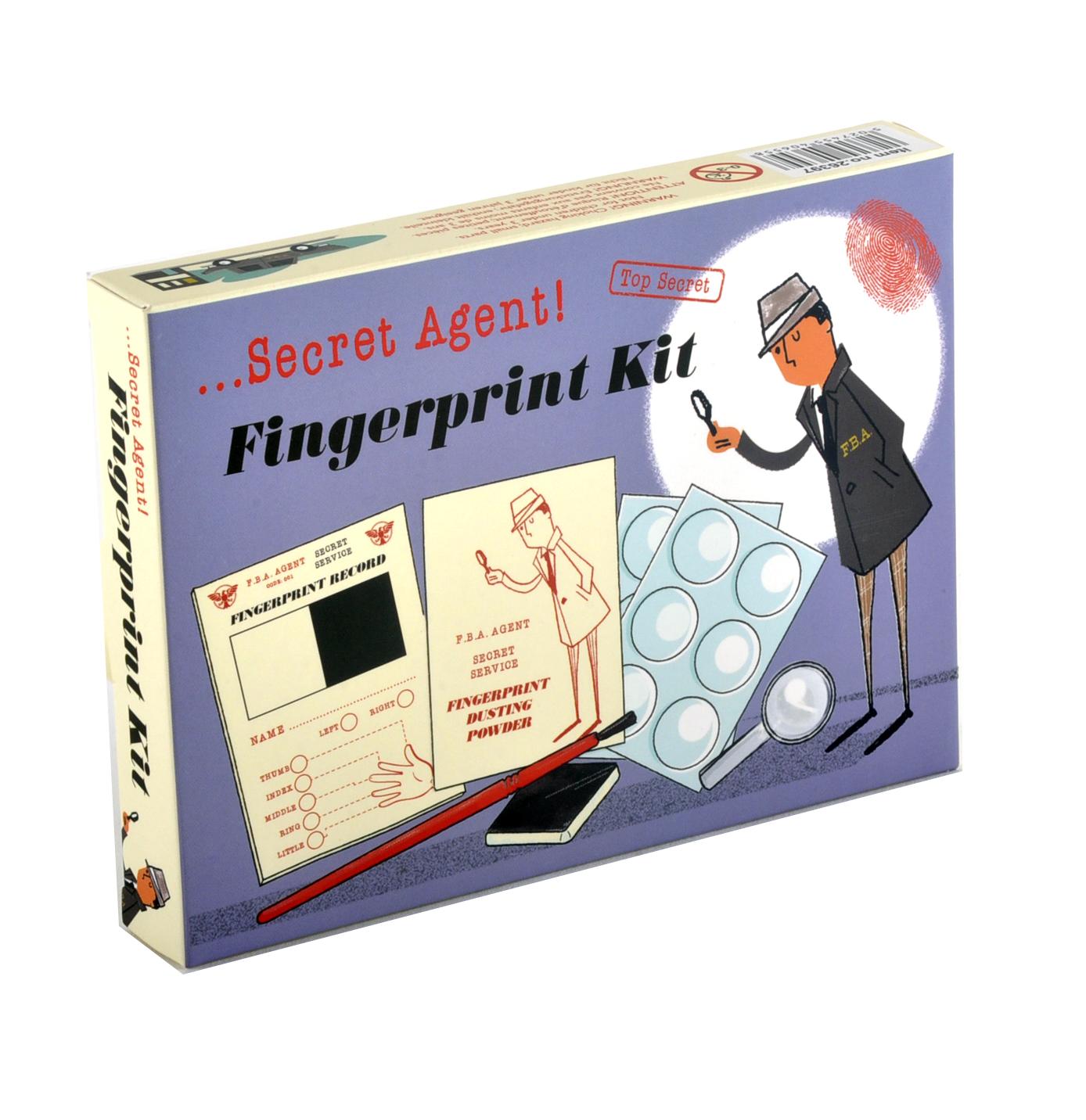 secret agent fingerprint kit top secret retro spy detective set pink cat shop. Black Bedroom Furniture Sets. Home Design Ideas