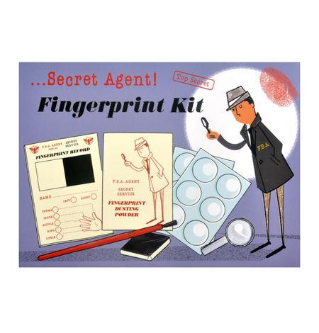 Secret Agent Fingerprint Kit - Top Secret Retro Spy Detective Set