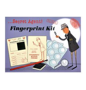 Secret Agent Fingerprint Kit - Top Secret Retro Spy Detective Set Thumbnail 1
