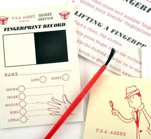 Secret Agent Fingerprint Kit - Top Secret Retro Spy Detective Set Thumbnail 3