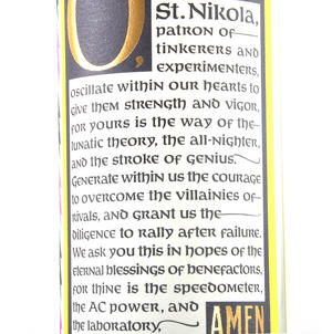 Nikola Tesla Candle Thumbnail 4