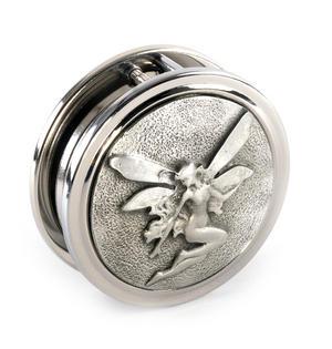 Art Nouveau Fairy Pewter Desk Magnifier Thumbnail 3