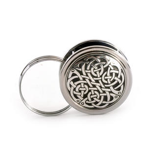 Celtic Never Ending Knot Pewter Desk Magnifier Thumbnail 1