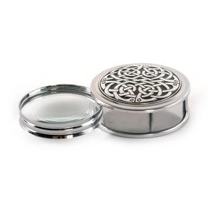 Celtic Never Ending Knot Pewter Desk Magnifier Thumbnail 2