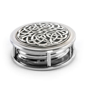 Celtic Never Ending Knot Pewter Desk Magnifier Thumbnail 3