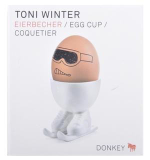 Toni Winter Egg - Skiing Egg Cup Thumbnail 3