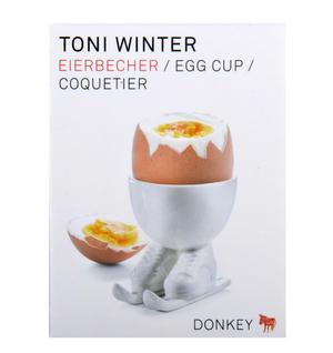 Toni Winter Egg - Skiing Egg Cup Thumbnail 4