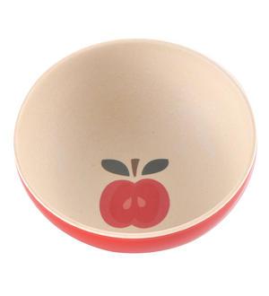 "Vintage Apple Large Bamboo Bowl - 24cm / 9"""