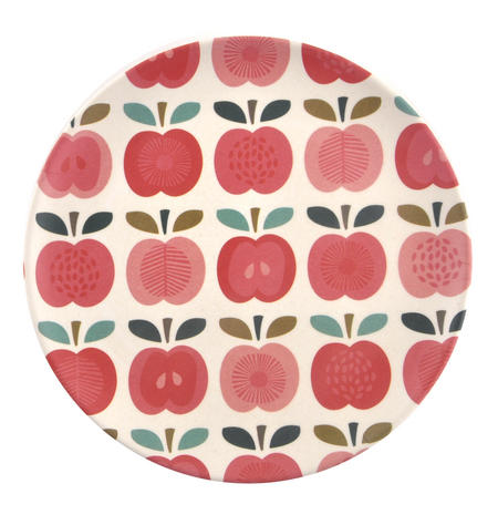 Vintage Apple Bamboo Small Side Plate - 20cm / 8""