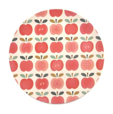 "Vintage Apple Bamboo Plate - 25cm / 10"""