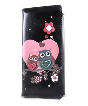 Owls Loveheart Long Purse