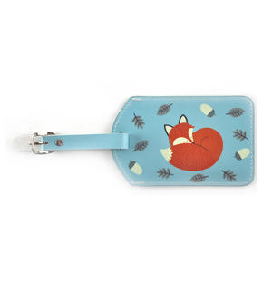 Rusty the Fox Luggage Tag / Bag Identifier