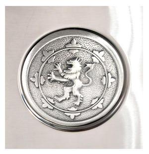 Scottish Royal Standard Lion 6oz Hip Flask Presentation Box Set with Funnel & Two Shot Cups Thumbnail 2