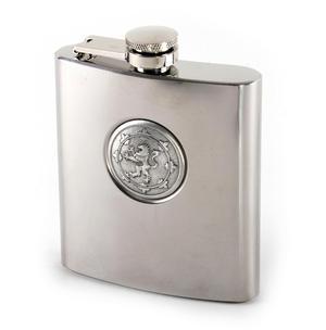 Scottish Royal Standard Lion 6oz Hip Flask Presentation Box Set with Funnel & Two Shot Cups Thumbnail 5