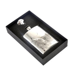 Leaping Salmon Angler's 6oz Hip Flask Presentation Box Set with Funnel Thumbnail 4