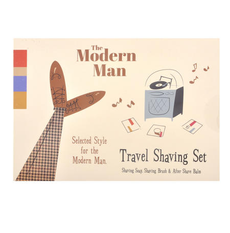 Modern Man - Retro Men's Travel Shaving Set