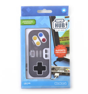 PLAY HUB 4 Port Super Hub USB 2.0 Hub Windows & Mac