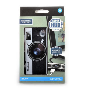 Camera 4 Port Super Hub USB 2.0 Hub Windows & Mac