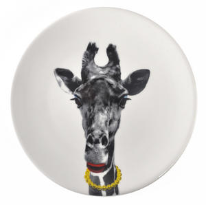 Gina Giraffe - Wild Dining 23cm Porcelain Party Animal Plate Thumbnail 1