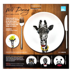 Gina Giraffe - Wild Dining 23cm Porcelain Party Animal Plate Thumbnail 2