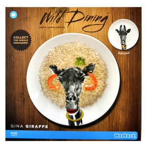 Gina Giraffe - Wild Dining 23cm Porcelain Party Animal Plate Thumbnail 3