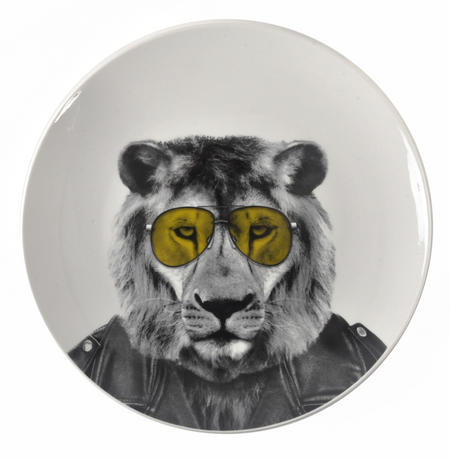Larry Lion - Wild Dining 23cm Porcelain Party Animal Plate